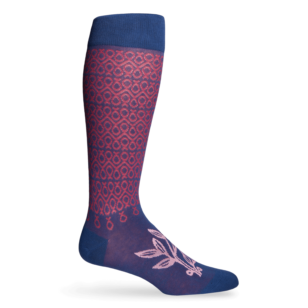 NBCF - Blue with Dark Pink Connected Ribbons